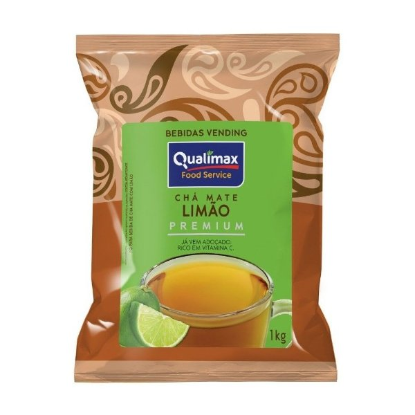 Chá Mate Solúvel Limão Vending 1Kg - Qualimax