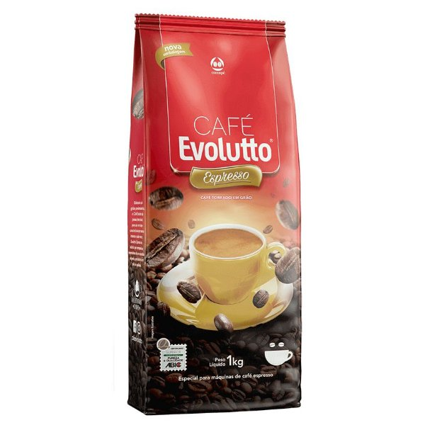 Café em Grãos Evolutto Espresso - 1kg  Cooxupe