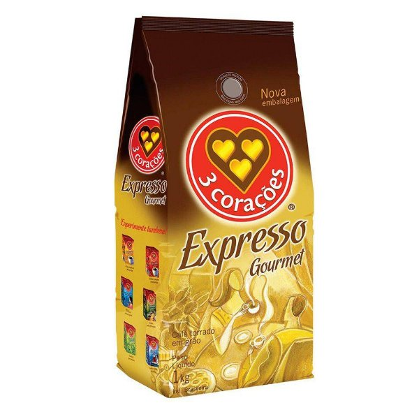 Café Torrado em Grãos Expresso Três Corações Gourmet - 1Kg