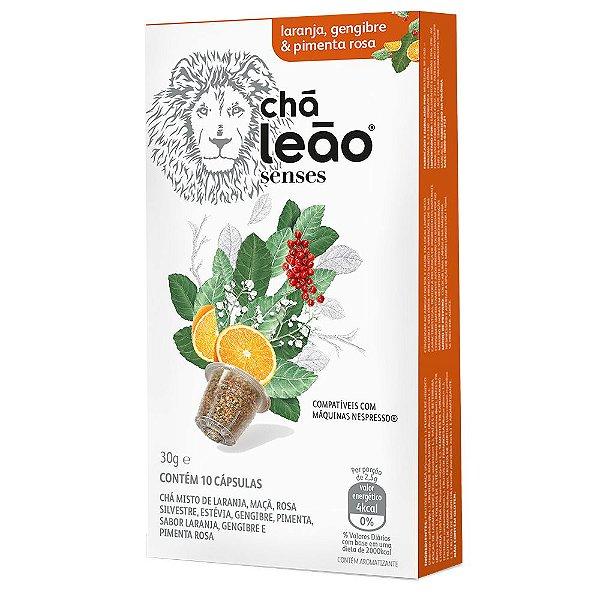 Chá Leão Senses Laranja, Gengibre & Pimenta Rosa em Cápsulas - 10Ud