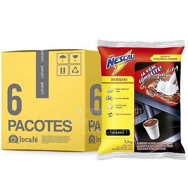 Achocolatado Vending Nescau 1,3 Kg - Nestlé - 7,8Kg (6x1,3Kg)