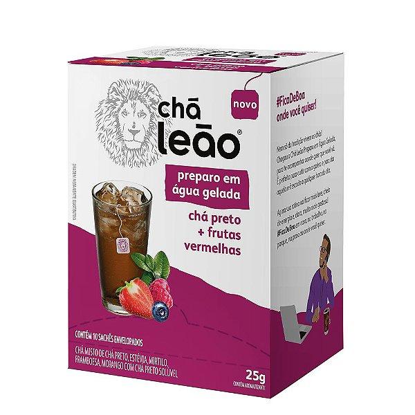 Chá Leão Água Gelada - Chá Preto E Frutas Vermelhas 10 Sachês