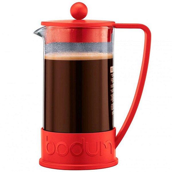 Cafeteira Prensa Francesa Bodum Vermelha Tamanho 350ml