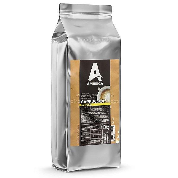 Cappuccino Tradicional América Com Canela 1kg