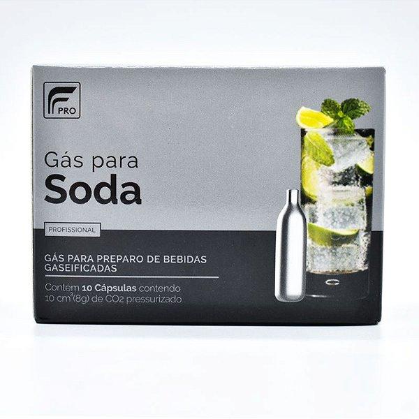 Cápsulas de gás para Soda C02 – FPRO - 10 unidades