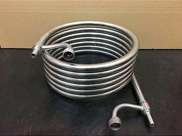 Chiller de contra fluxo em inox Brewmetal 6 METROS