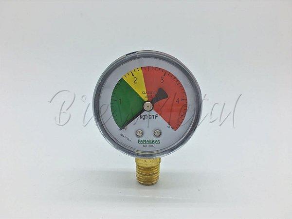 Manômetro de pressão para CO2