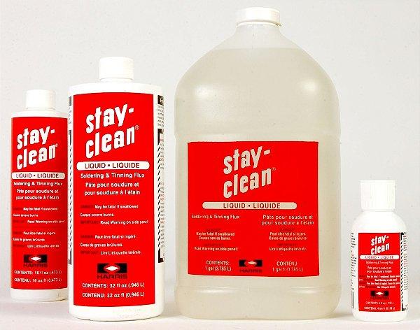 Stay Clean (Fluxo para solda com prata) Frasco em ML