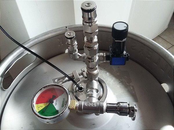 Kit de conversão barril 50L para fermentador pressurizado 40L COMPLETO