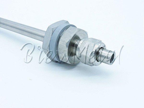 Poço Termométrico ajustável em Inox 304 (sem solda)