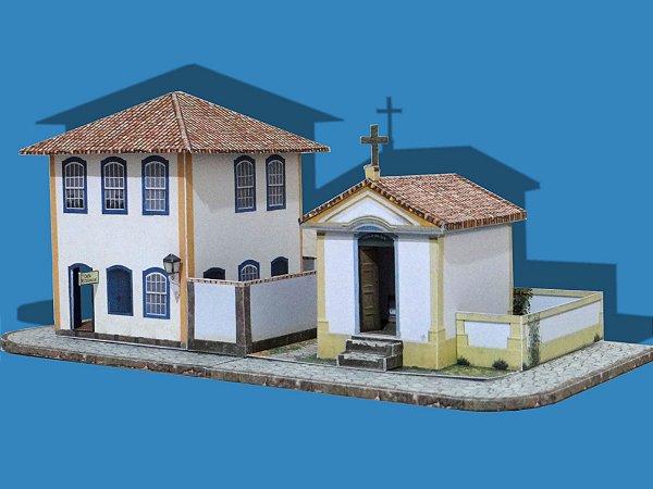 Solar + Igreja  1:87, Maquete De Papel - Já Montado 3d Novos
