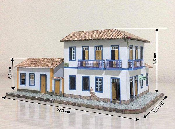 Casa + Pousada 1:87  Maquete De Papel - Já Montado 3d Novos