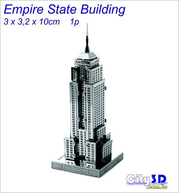 Empire States - New York- Miniatura 3d  Metal Inox P/ Monta