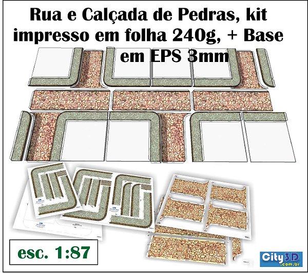 Rua De Pedras 1:87 Kit Impresso Para Montar + Manual 1:87
