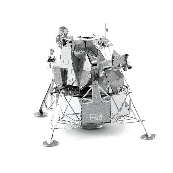 Modulo Lunar Apollo 3d Miniatura Metal, Cinza- Para Montar