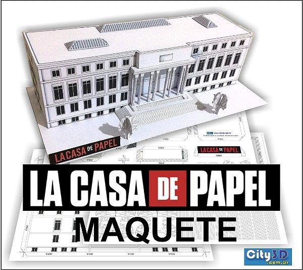 Kit La Casa De Papel + Manual Para Montar 1:200 Já Impressa