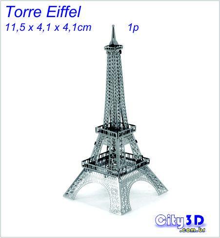 Torre Eiffel 3d Miniatura para montar