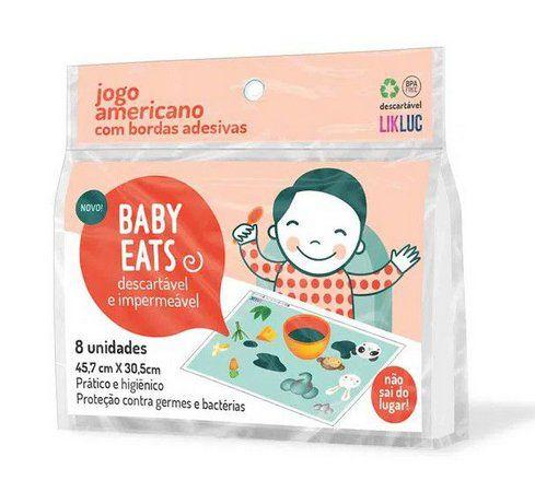 Baby Eats   Jogo Americano Adesivo Descartável – 08 Unidades