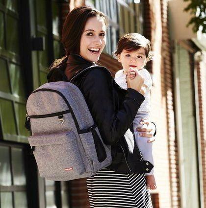 Bolsa de Maternidade Duo Backpack (Mochila) Heather Grey Skip Hop