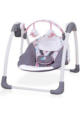 Cadeira de Descanso Automática Rosa com Brinquedos