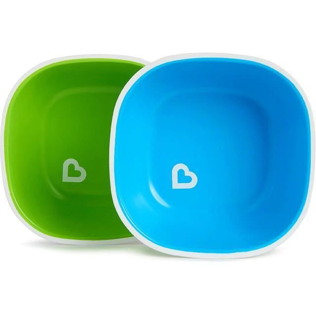 Conjunto com 2 Tigelas Azul e Verde Munchkin (Splash Toddler Bowl)