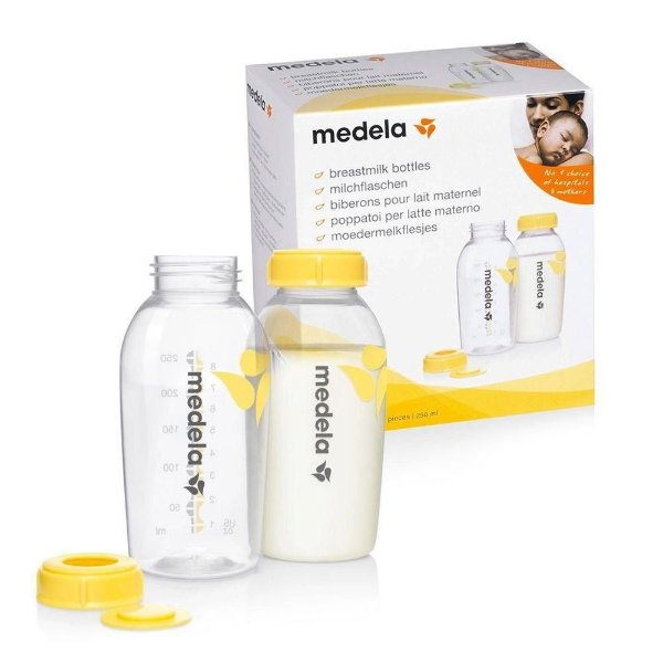 Frascos para coleta de leite materno 250ml - 2 unidades