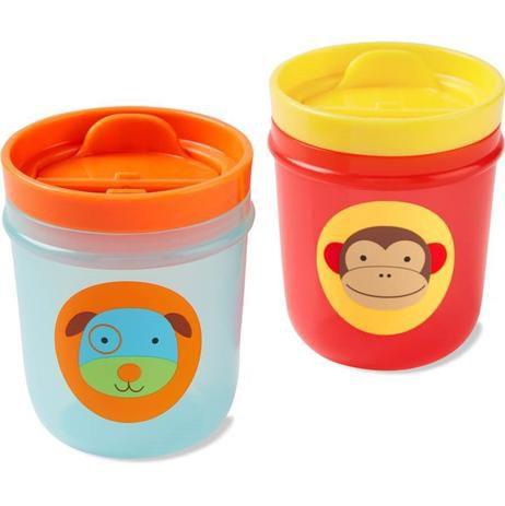 Kit com 2 copos Skip Hop Zoo Macaco e Cachorro