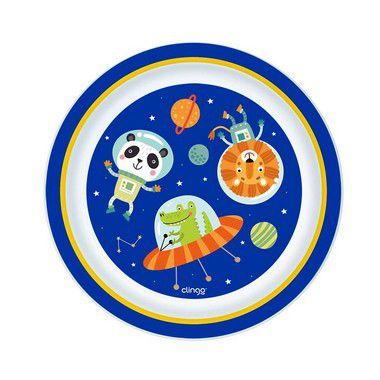 Kit com 3 pratos Clingo (Astronauta & Submarino)
