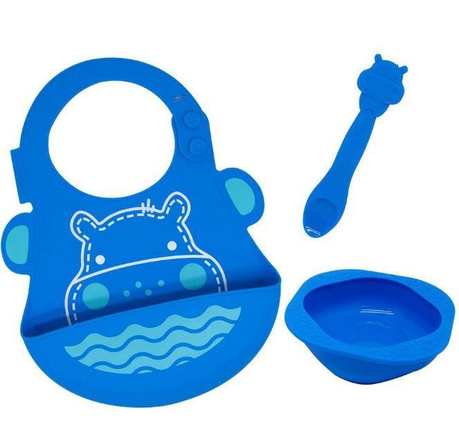 Kit de Alimentação em Silicone Hipopótamo