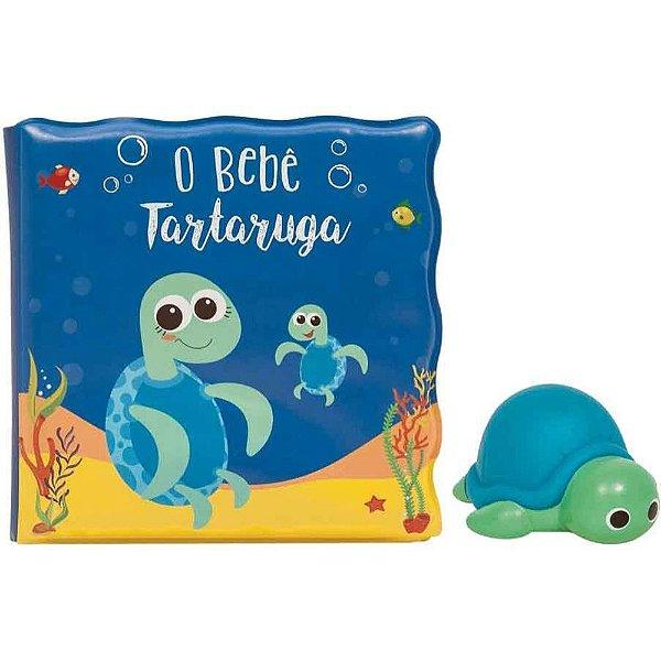 Kit livrinho de banho com tartaruguinha