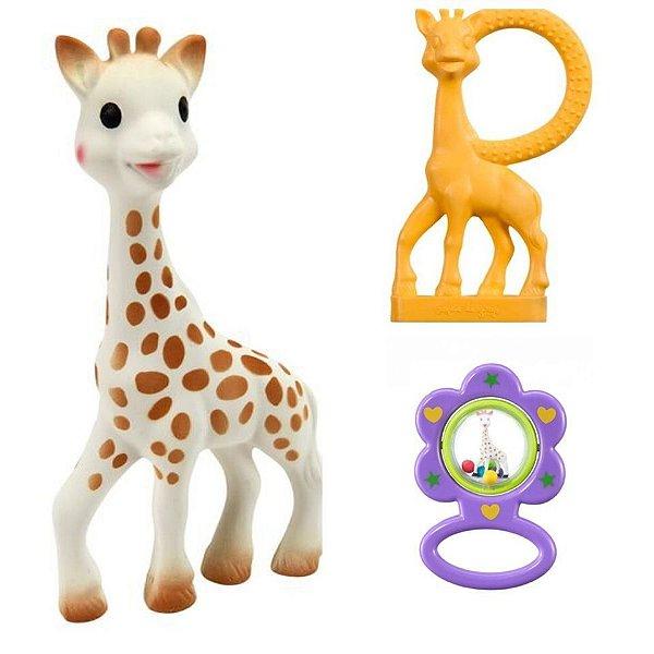 Kit Presente Fresh Touch Sophie La Girafe Roxo