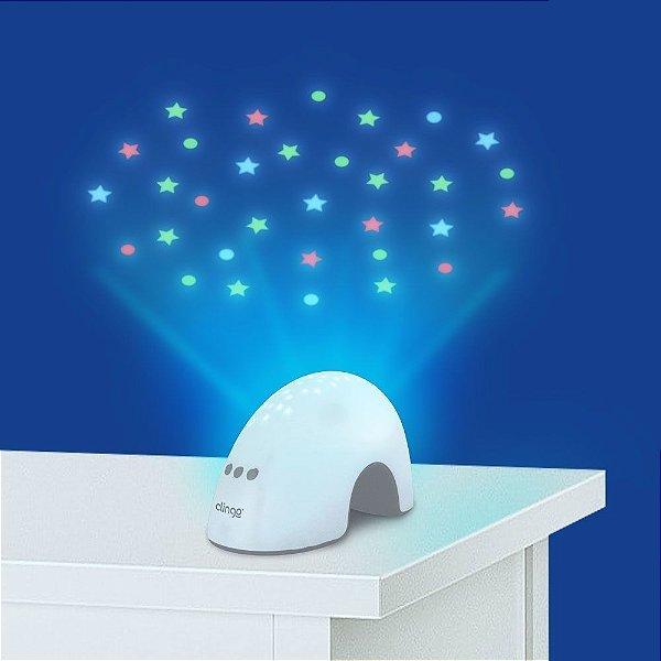 Luminária com Luz e Sons Elefantinho Clingo