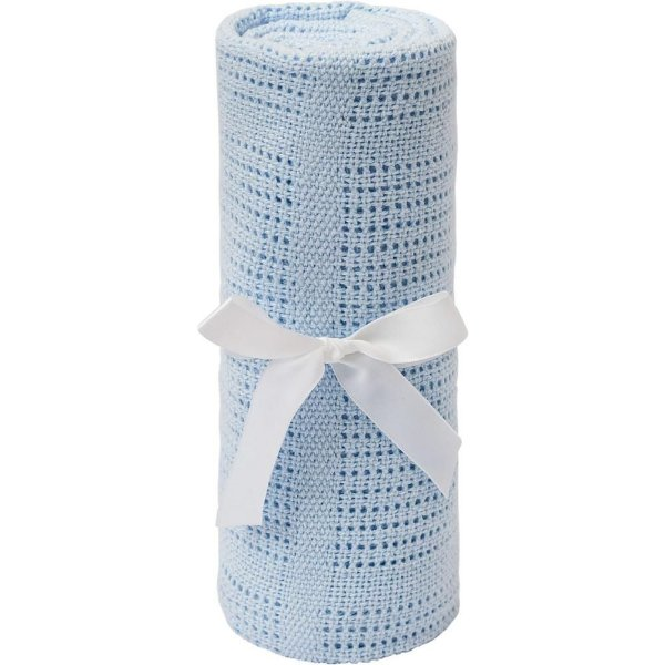 Manta Tricot Baby Azul