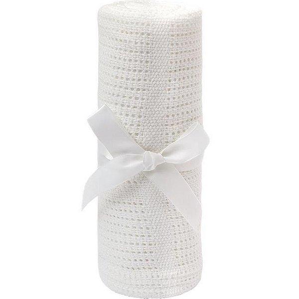 Manta Tricot Baby Branca