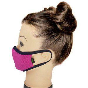 Máscara Rosa Pink Com Marinho - Tamanho Kids