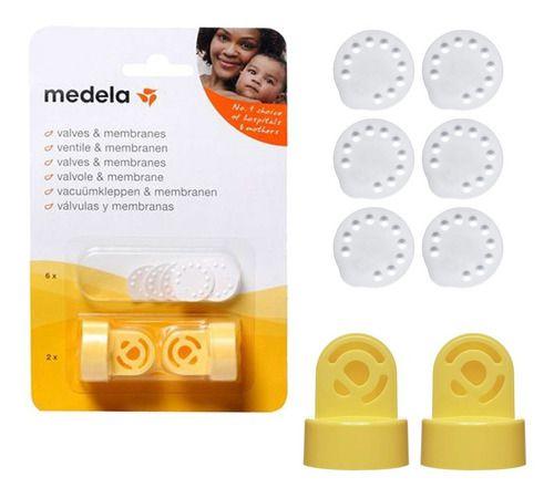 Válvulas e Membranas ( 2 Válvulas e 6 Membranas) Para extrator de leite Medela