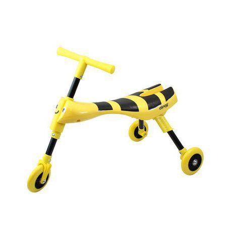 Triciclo Infantil Dobrável (Amarelo/Preto)
