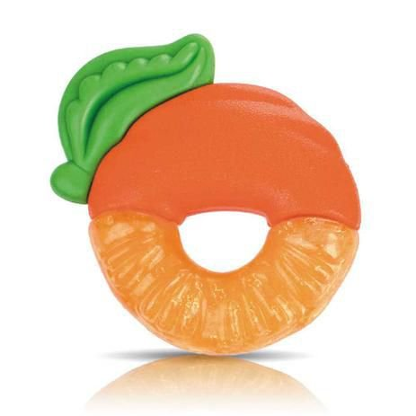 Mordedor Fruta com Gel Laranja Nuby