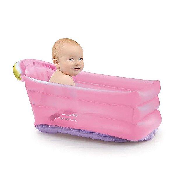 Banheira Inflável Bath Buddy Rosa