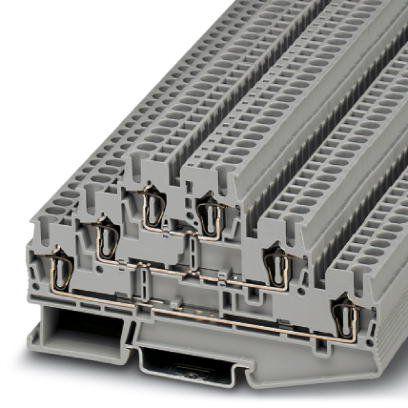 ST 2,5-3L BORNE CONECTOR DE PASSAGEM MOLA 3 ANDARES PARA CABO 2,5MM 3036042 PHOENIX CONTACT
