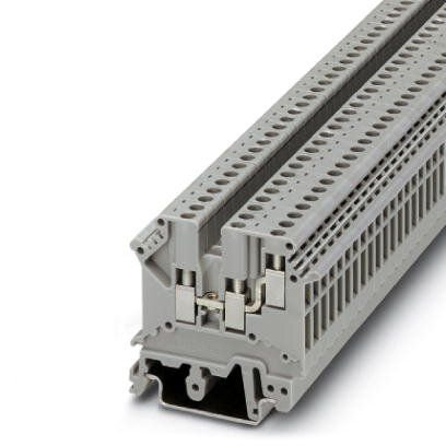 UK 3-TWIN BORNE CONECTOR DE PASSAGEM PARA CABO DE 2,5MM CONEXÃO DUPLA UNILATERAL 3002225 PHOENIX CONTACT