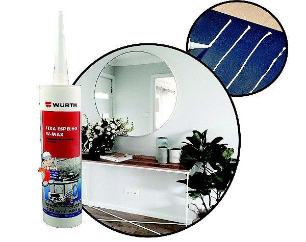Fixa espelho e cola vidros sem manchar ou danificar ideal para colar tampa de maquina de lavar e fixação de espelhos na parede