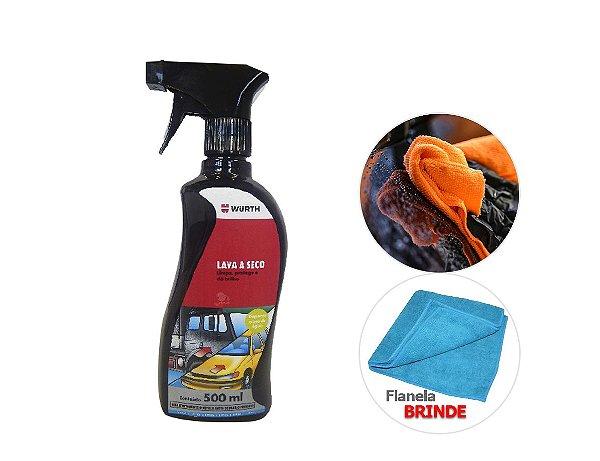 Lava a seco lavagem a seco de carros outomotiva ecologica com cera 3em1 + pano de microfibra