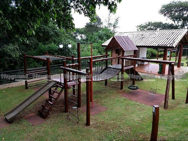 Playground Aldeota em eucalipto tratado Instalado no Condomínio Tivoli Park
