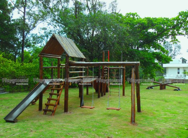 Playground Aldeota em eucalipto tratado Instalado no Condomínio Morada das Artes