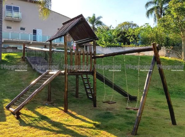 Playground Projeto especial de eucalipto tratado bairro Jundiacanga em Araçoiaba da Serra