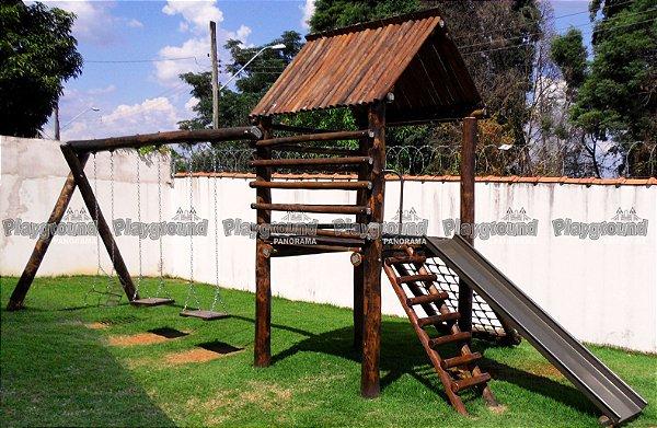 Playground ecológico Casinha do Tarzan/ Condomínio Vila Rubi
