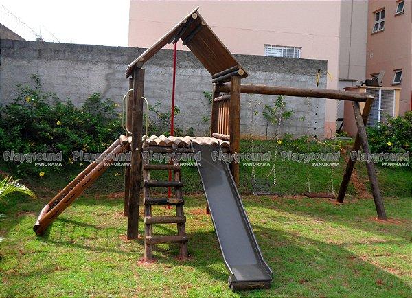 Playground ecológico Casinha do Tarzan Condomínio dos Ipês Vila Flora