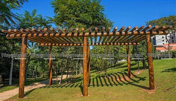 Pergolado em eucalipto tratado / Condomínio Tivoli Park