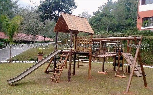 Playground Aldeota Completa com Torre de Pneus Instalado em Sítio no Bairro Quebra Frascos Teresópolis - RJ